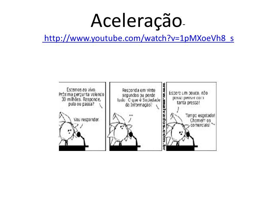 Aceleração- http://www.youtube.com/watch v=1pMXoeVh8_s