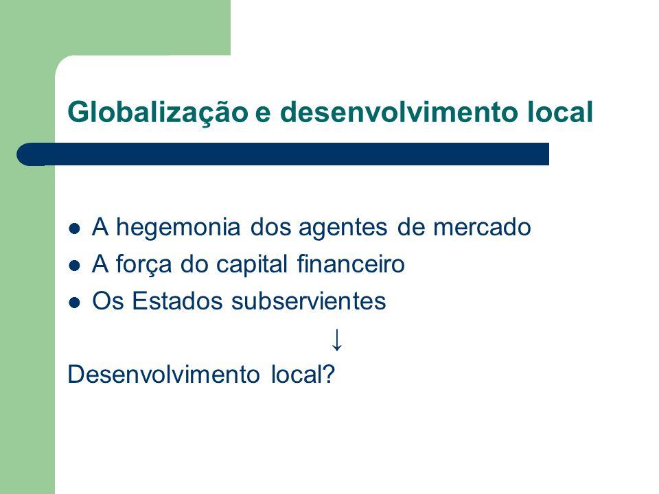 Globalização e desenvolvimento local
