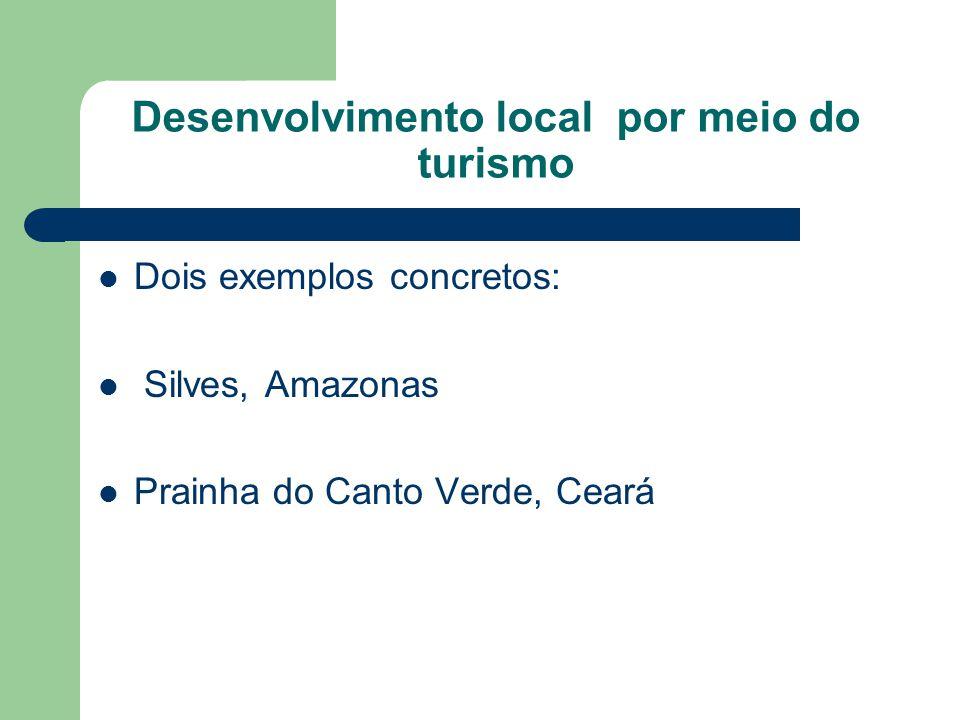 Desenvolvimento local por meio do turismo