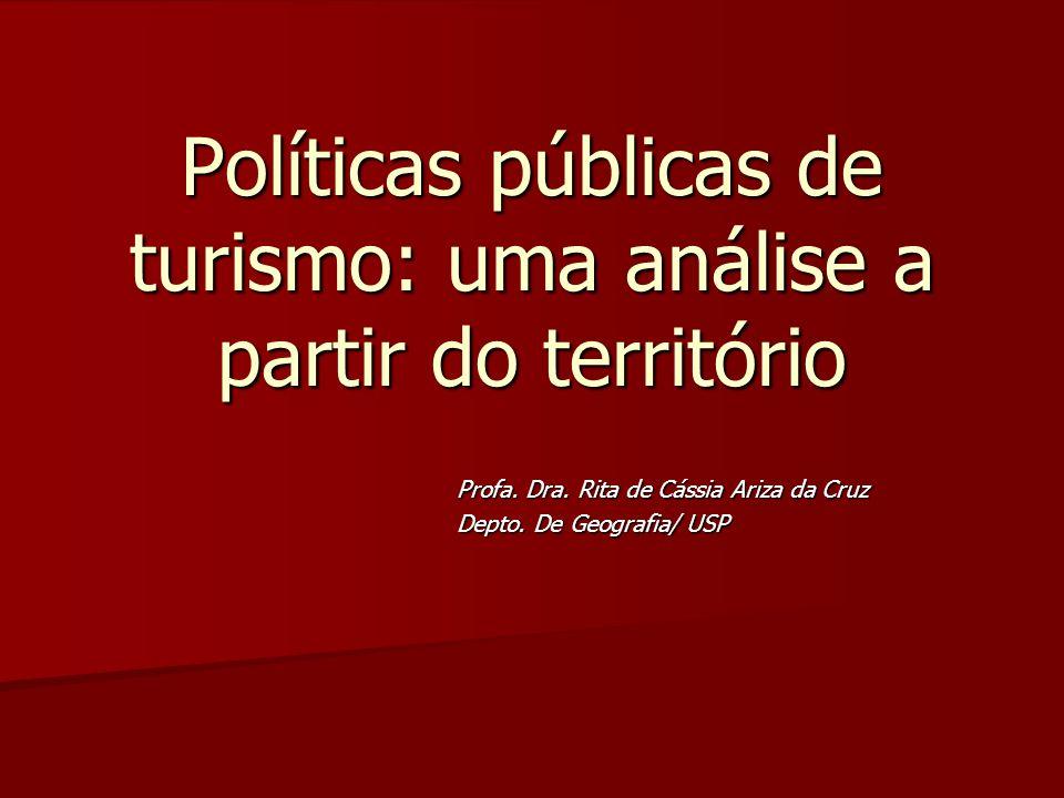 Políticas públicas de turismo: uma análise a partir do território