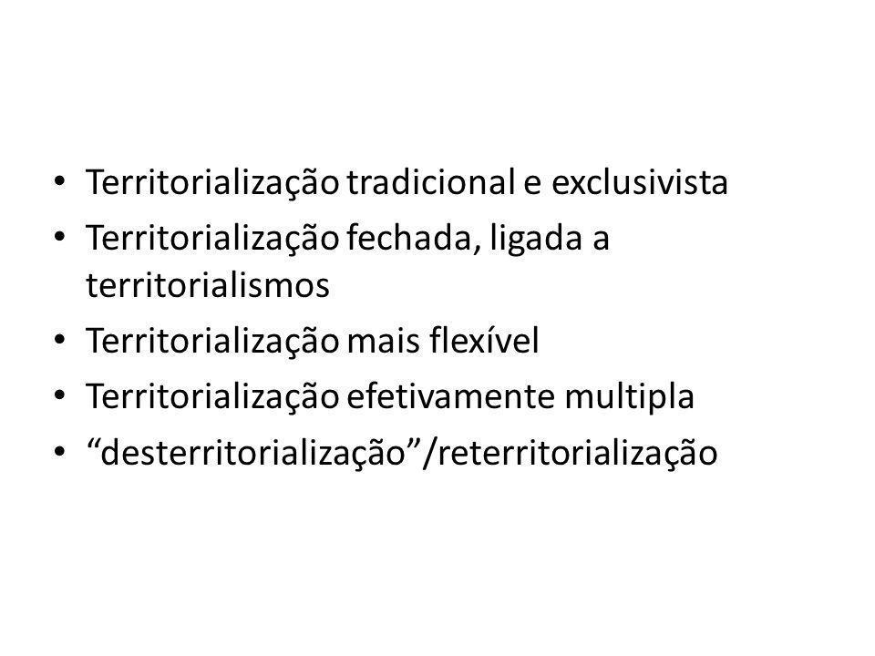 Territorialização tradicional e exclusivista