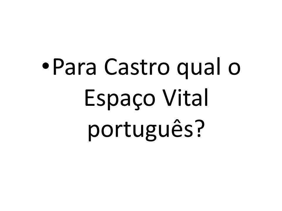 Para Castro qual o Espaço Vital português