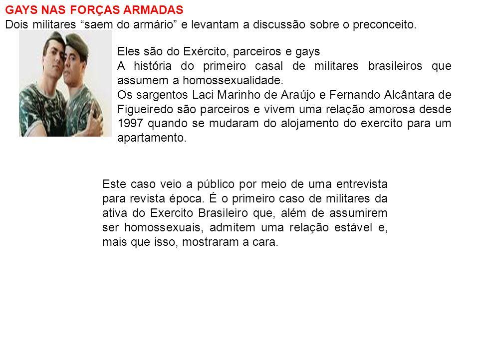 GAYS NAS FORÇAS ARMADAS