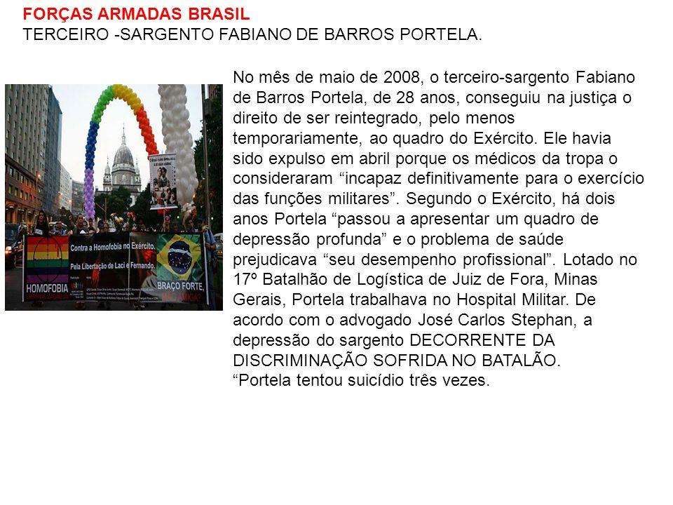 FORÇAS ARMADAS BRASIL TERCEIRO -SARGENTO FABIANO DE BARROS PORTELA.