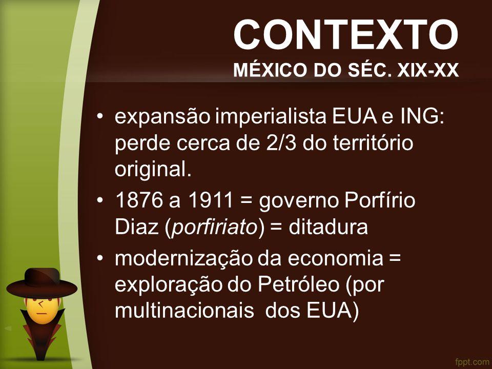 CONTEXTO MÉXICO DO SÉC. XIX-XX