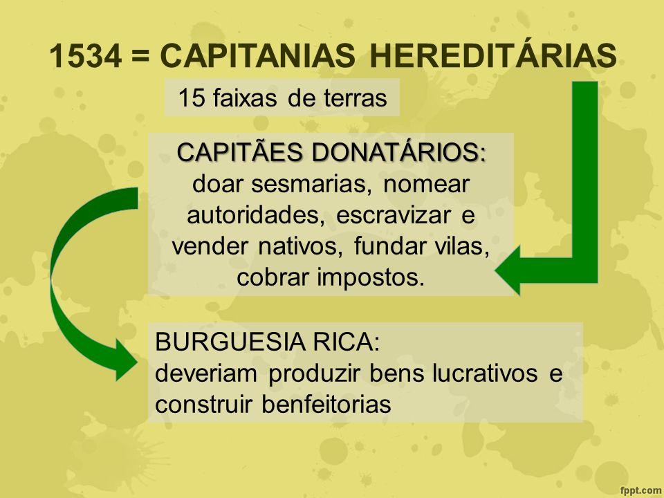 1534 = CAPITANIAS HEREDITÁRIAS