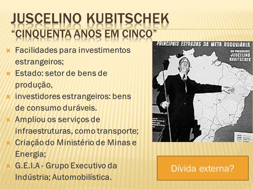 Juscelino Kubitschek cinquenta anos em cinco