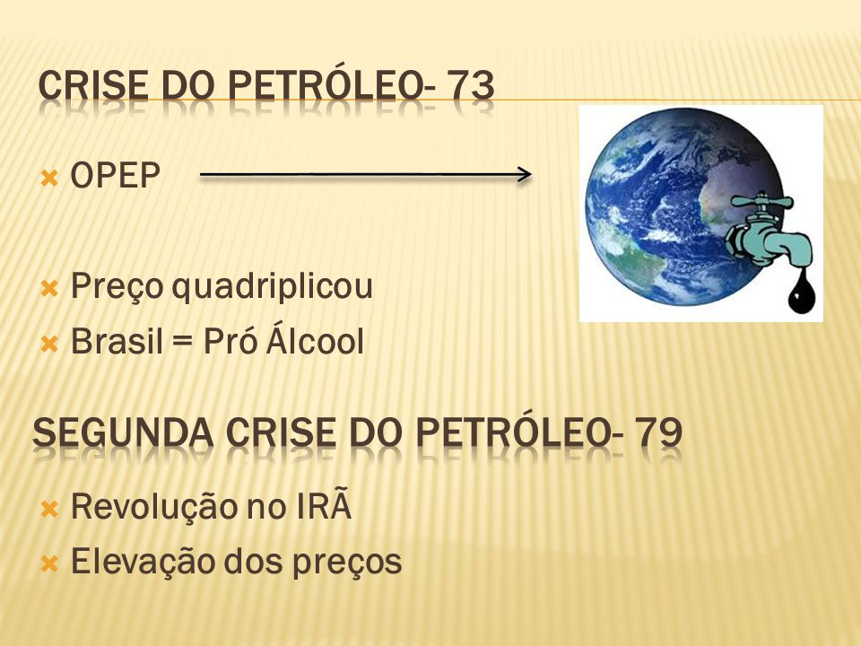 Segunda Crise do petróleo- 79