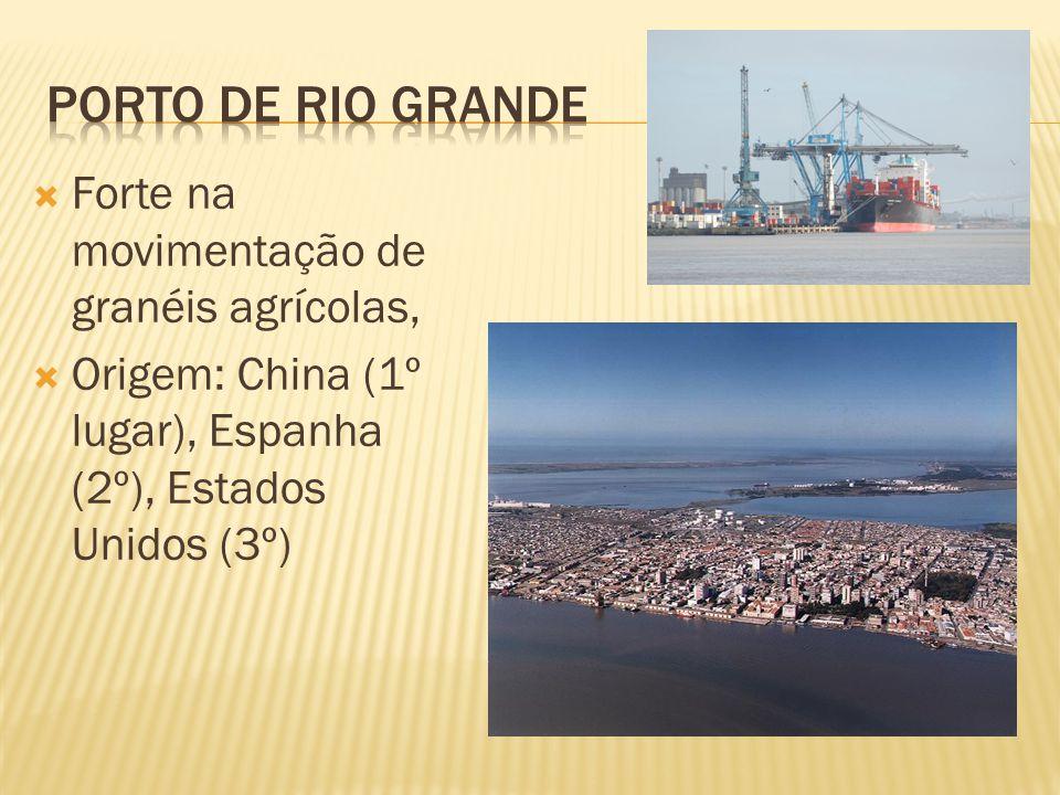 Porto de Rio Grande Forte na movimentação de granéis agrícolas,