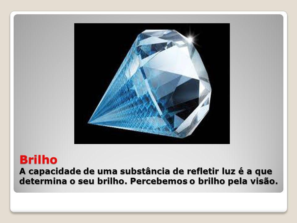 Brilho A capacidade de uma substância de refletir luz é a que determina o seu brilho.