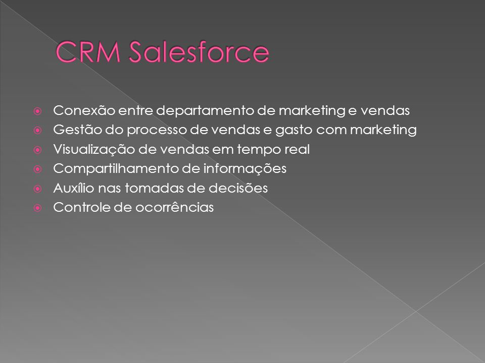 CRM Salesforce Conexão entre departamento de marketing e vendas