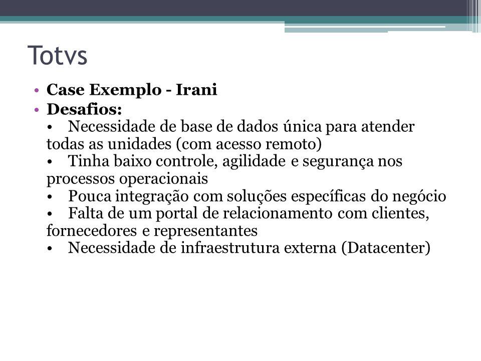 Totvs Case Exemplo - Irani