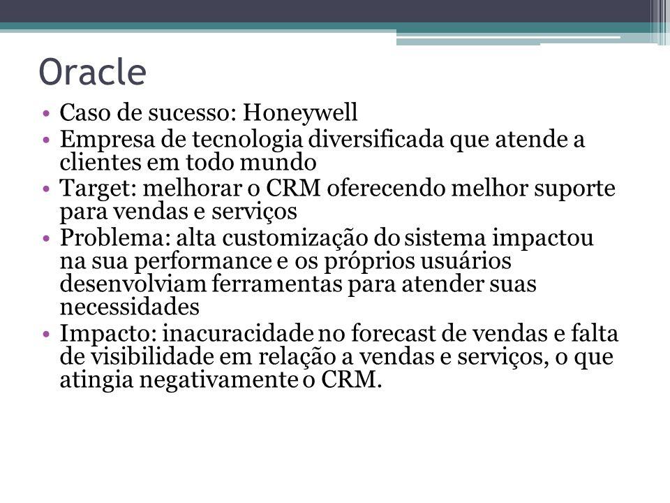 Oracle Caso de sucesso: Honeywell