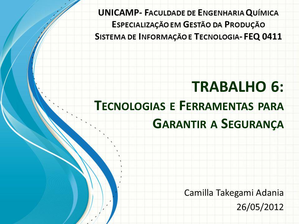 TRABALHO 6: Tecnologias e Ferramentas para Garantir a Segurança