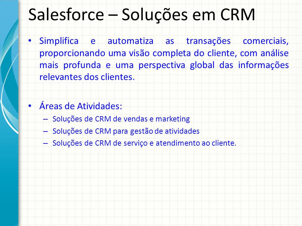 Salesforce – Soluções em CRM