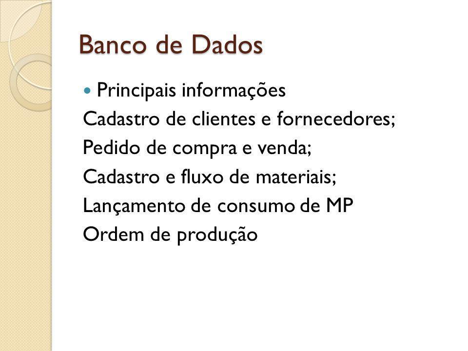 Banco de Dados Principais informações