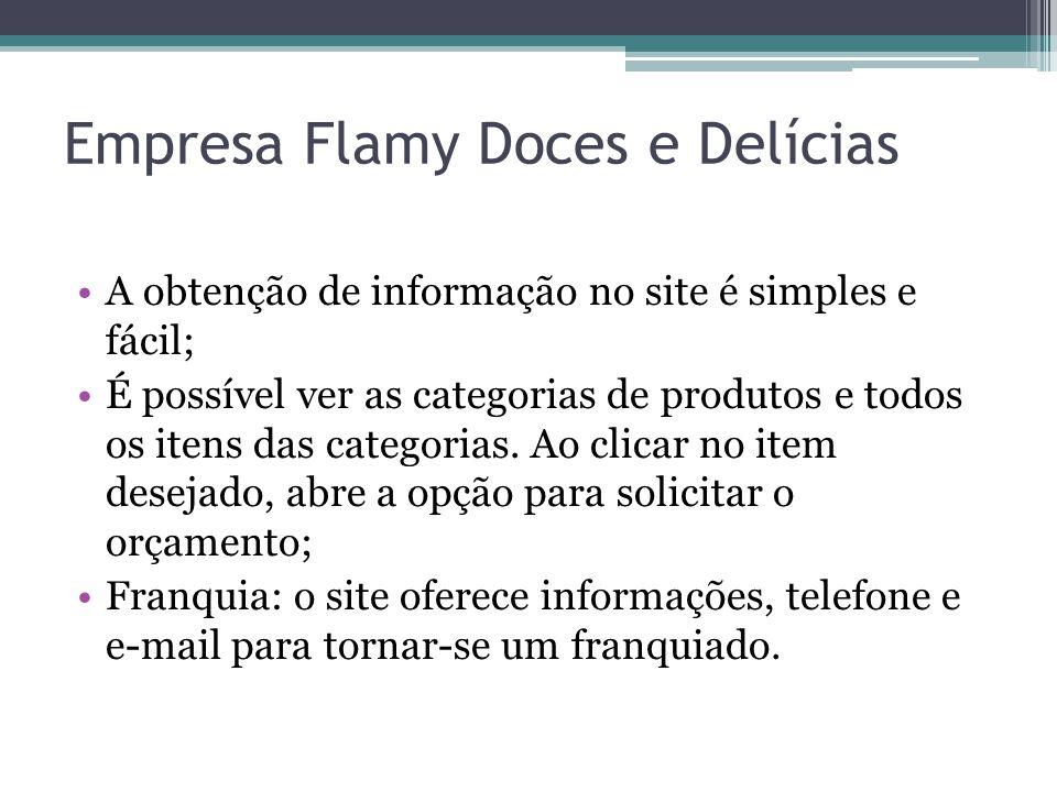 Empresa Flamy Doces e Delícias
