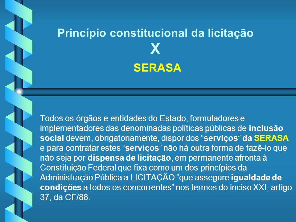 Princípio constitucional da licitação X SERASA