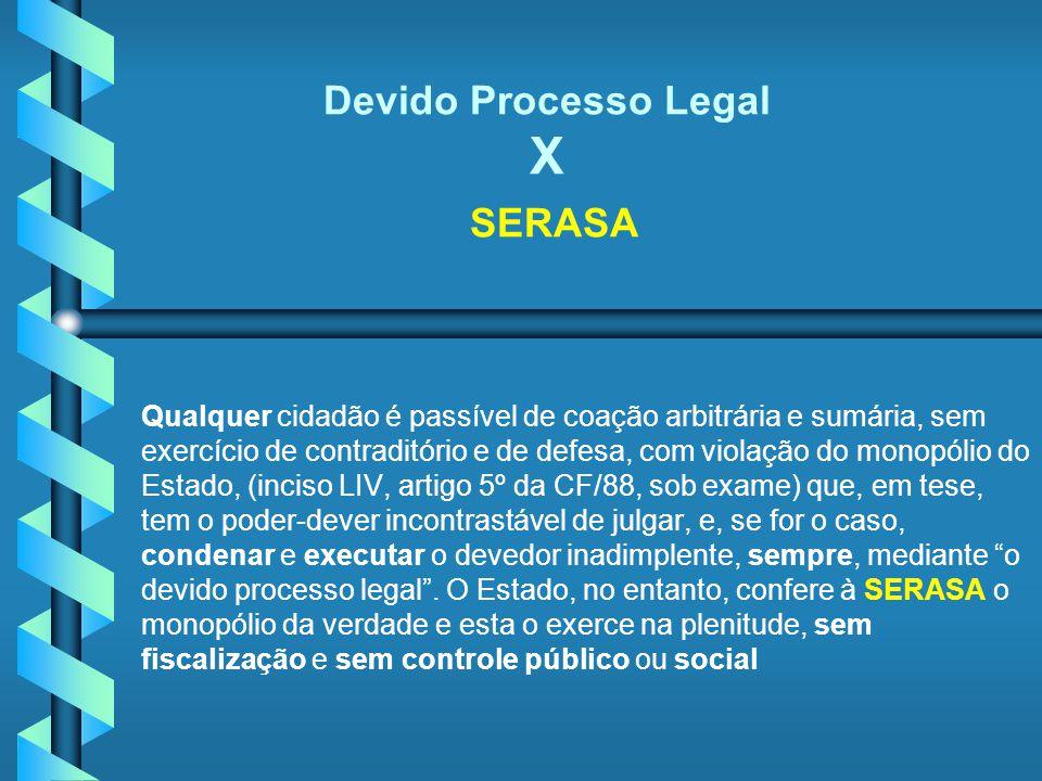 Devido Processo Legal X SERASA