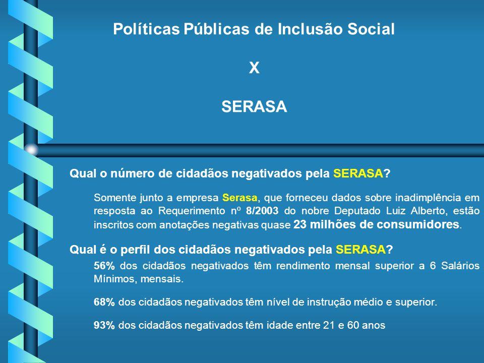 Políticas Públicas de Inclusão Social X SERASA