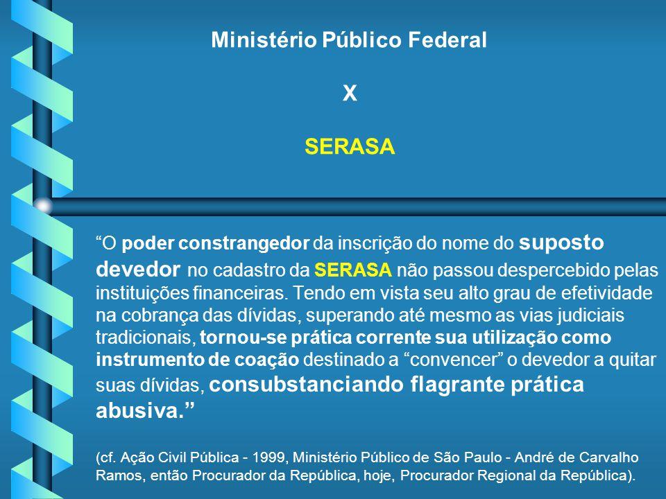 Ministério Público Federal X SERASA