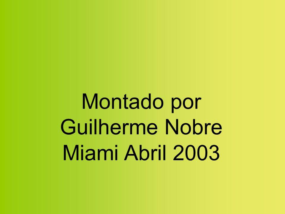 Montado por Guilherme Nobre Miami Abril 2003
