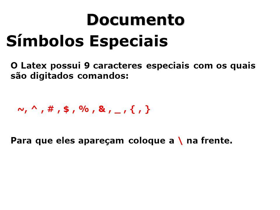 Documento Símbolos Especiais