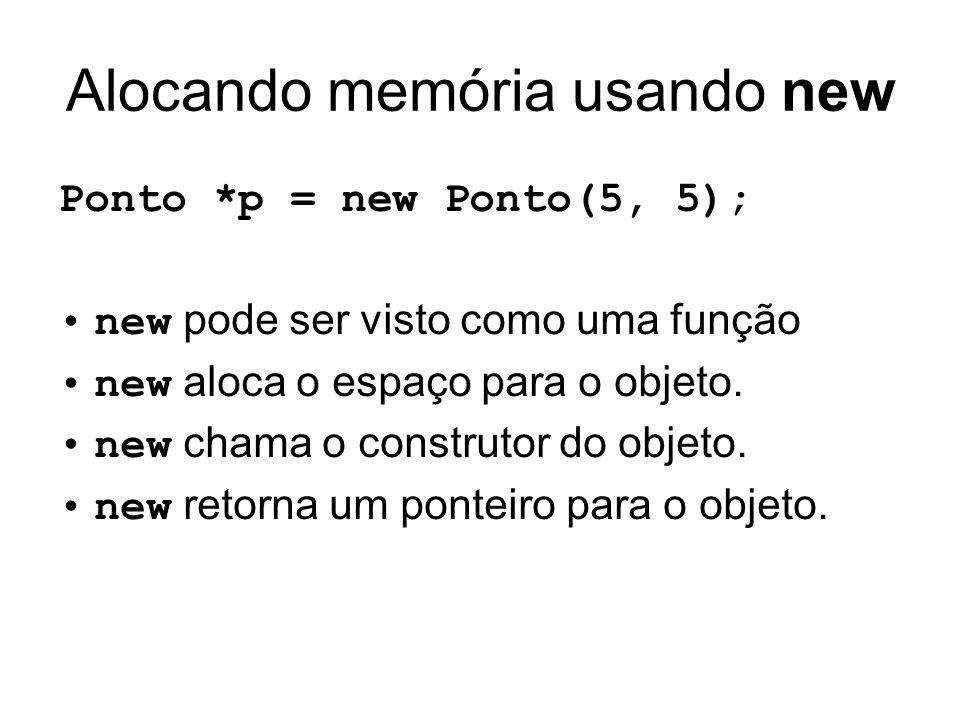 Alocando memória usando new