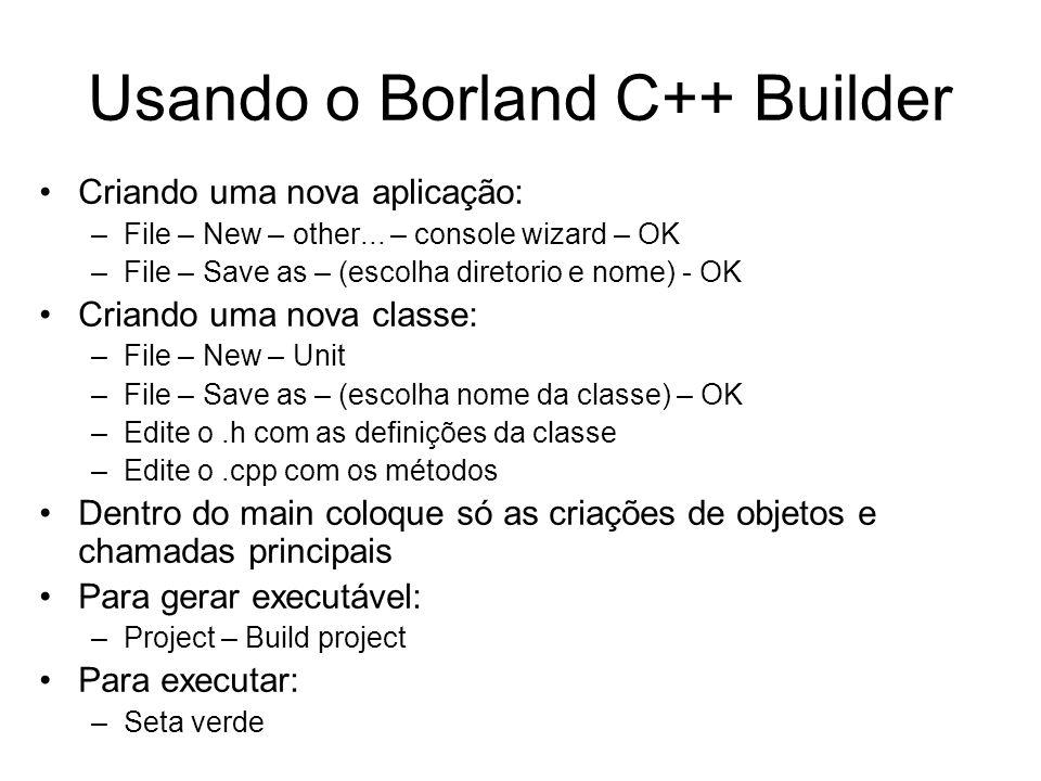 Usando o Borland C++ Builder