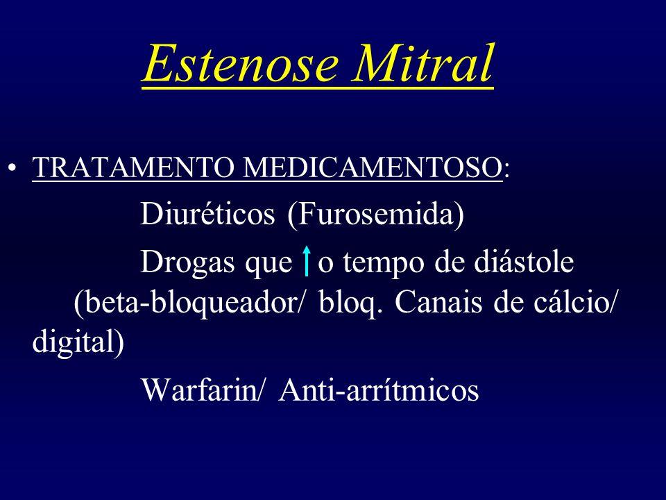 Estenose Mitral TRATAMENTO MEDICAMENTOSO: Diuréticos (Furosemida)