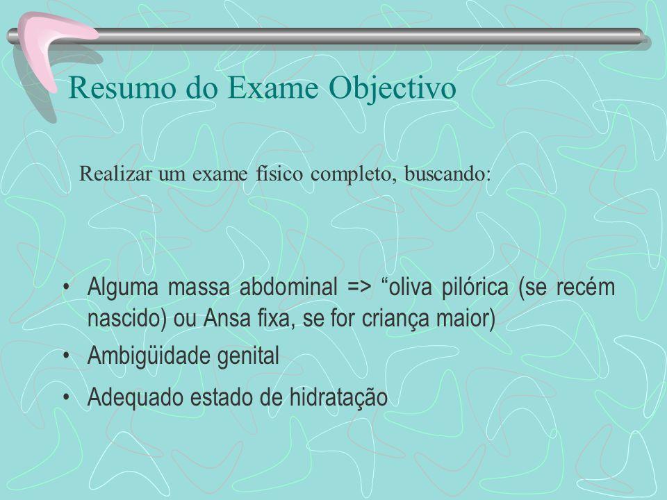 Resumo do Exame Objectivo
