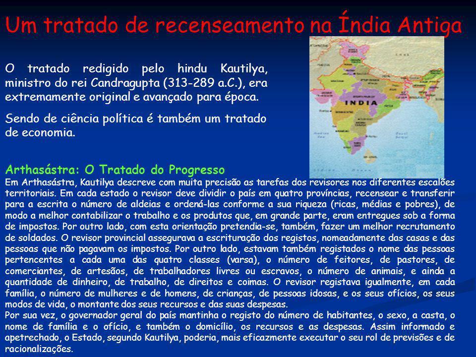 Um tratado de recenseamento na Índia Antiga