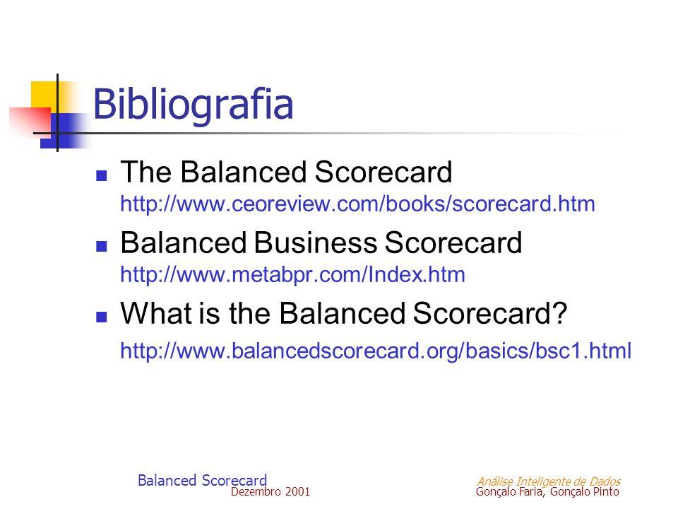 Balanced Scorecard Análise Inteligente de Dados