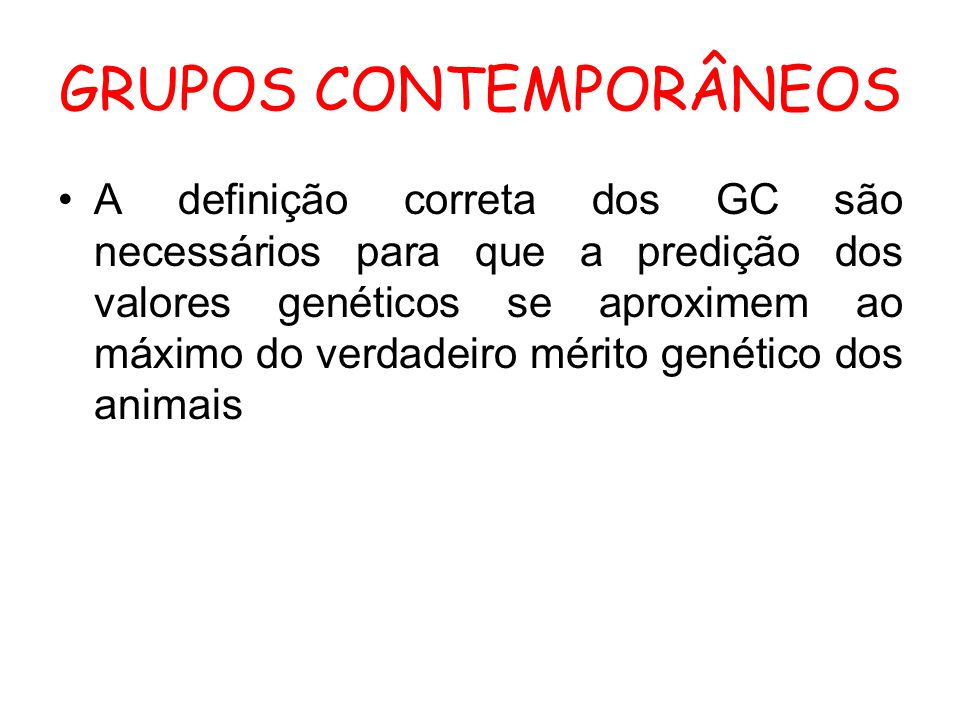 GRUPOS CONTEMPORÂNEOS