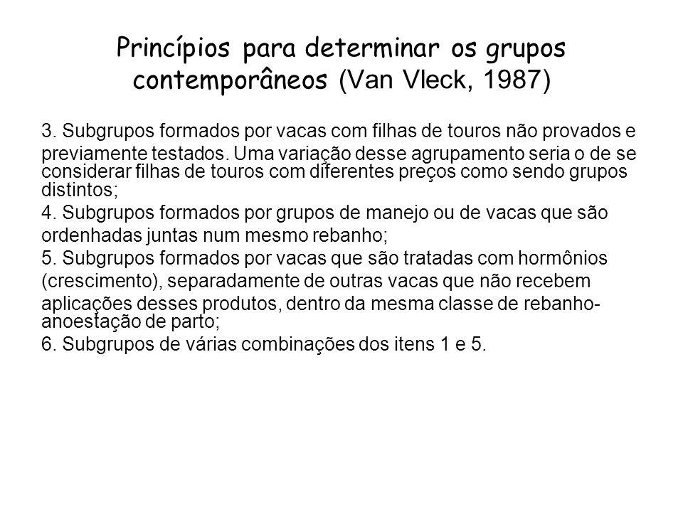 Princípios para determinar os grupos contemporâneos (Van Vleck, 1987)