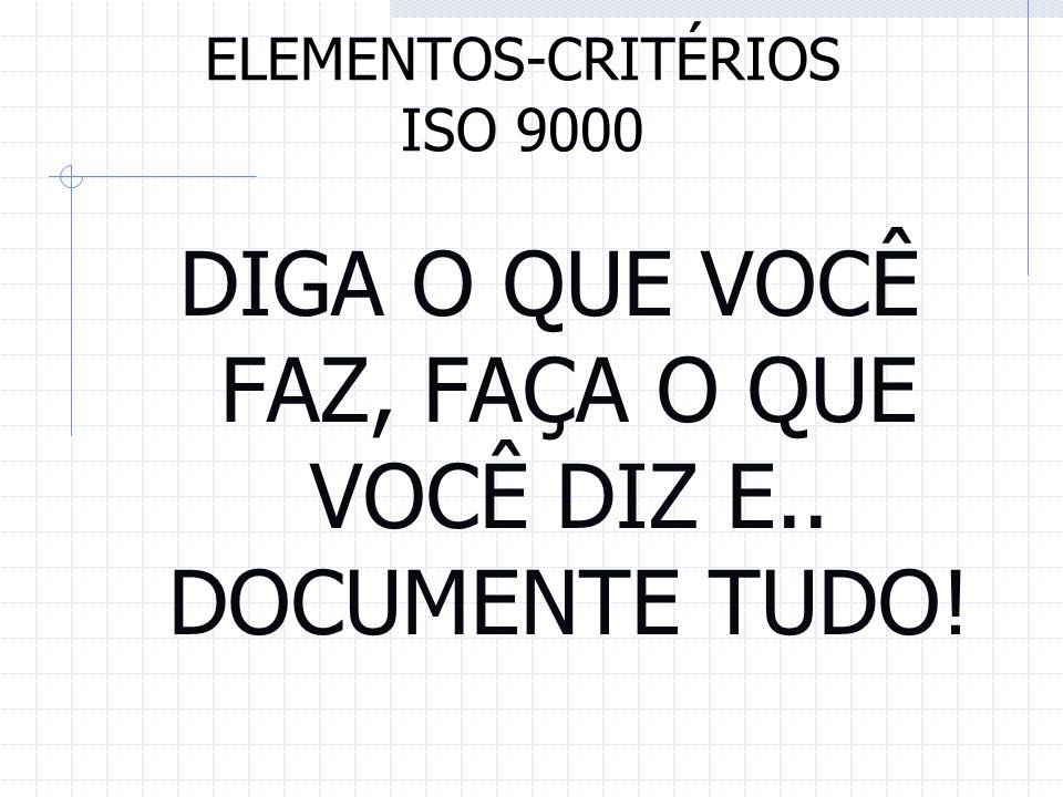 ELEMENTOS-CRITÉRIOS ISO 9000
