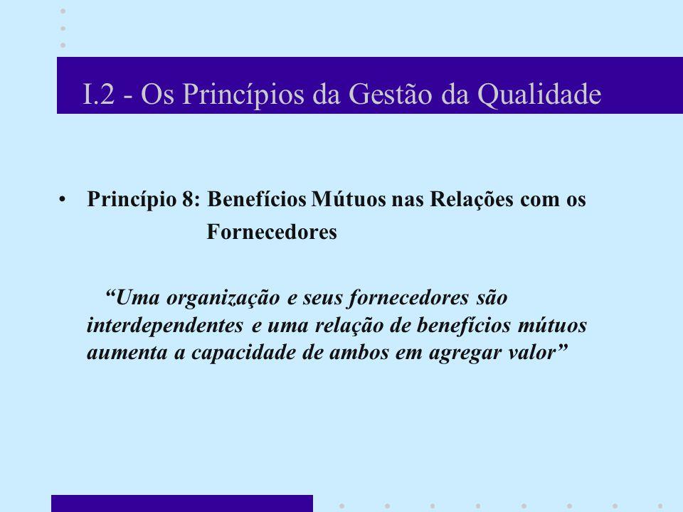 I.2 - Os Princípios da Gestão da Qualidade