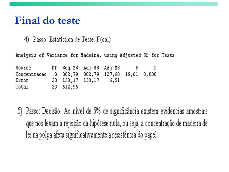 Final do teste