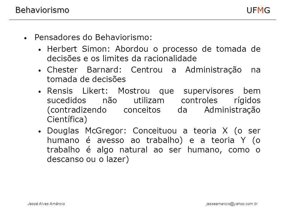 Pensadores do Behaviorismo: