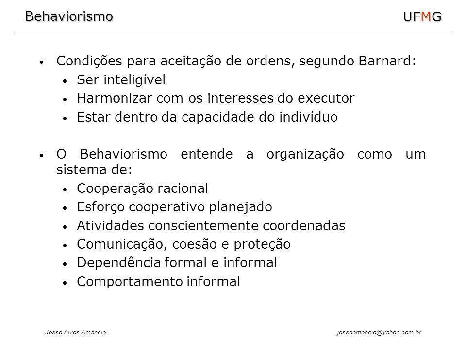 Condições para aceitação de ordens, segundo Barnard: