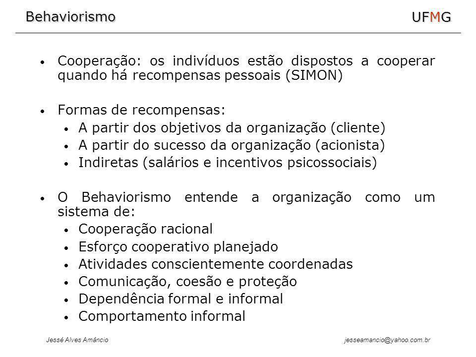 Cooperação: os indivíduos estão dispostos a cooperar quando há recompensas pessoais (SIMON)