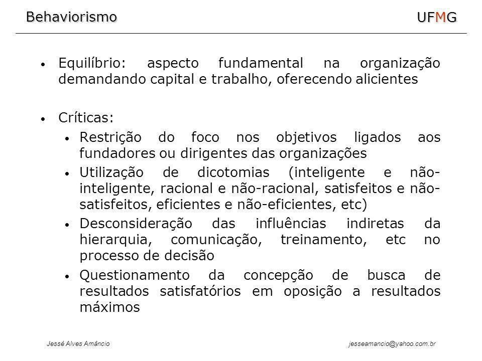 Equilíbrio: aspecto fundamental na organização demandando capital e trabalho, oferecendo alicientes
