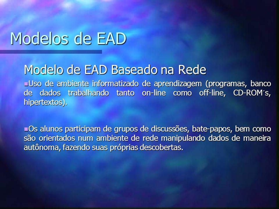 Modelos de EAD Modelo de EAD Baseado na Rede