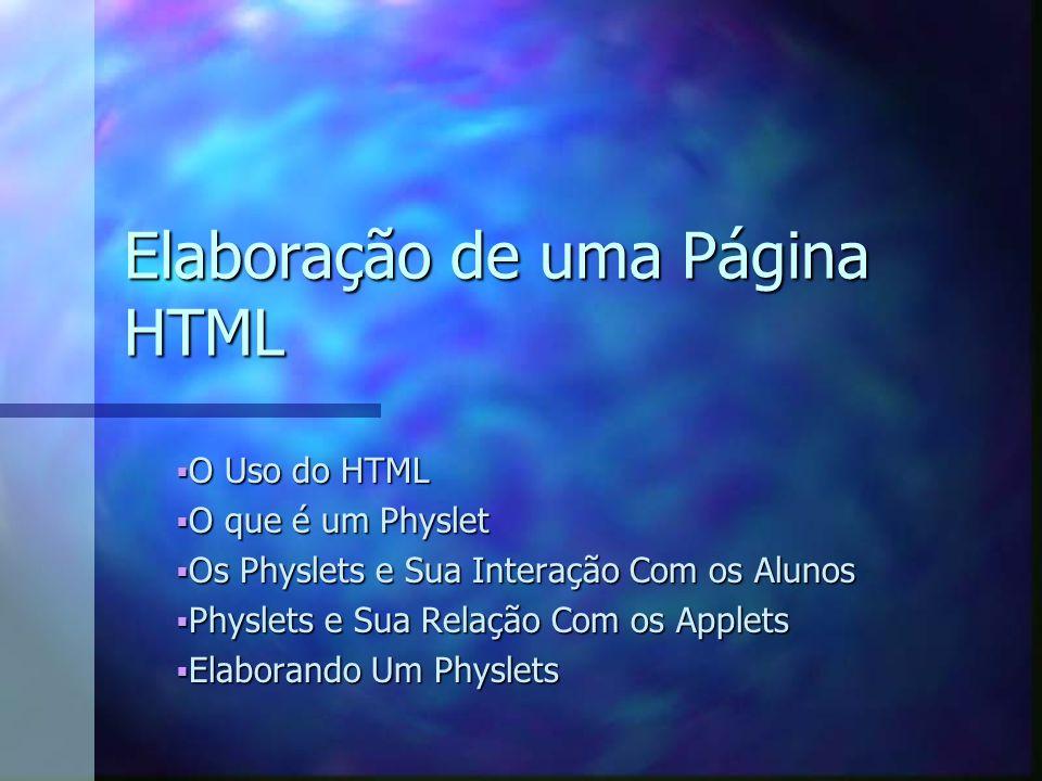 Elaboração de uma Página HTML