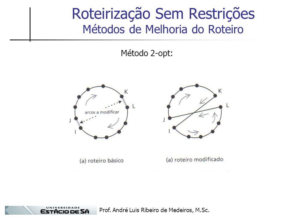 Roteirização Sem Restrições Métodos de Melhoria do Roteiro