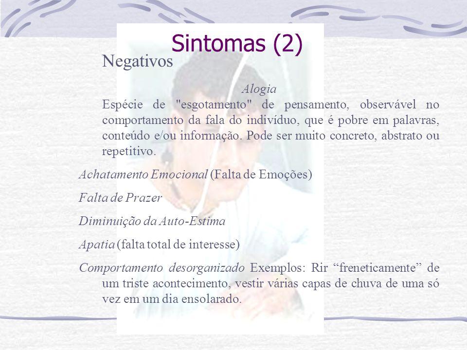 Sintomas (2) Negativos.