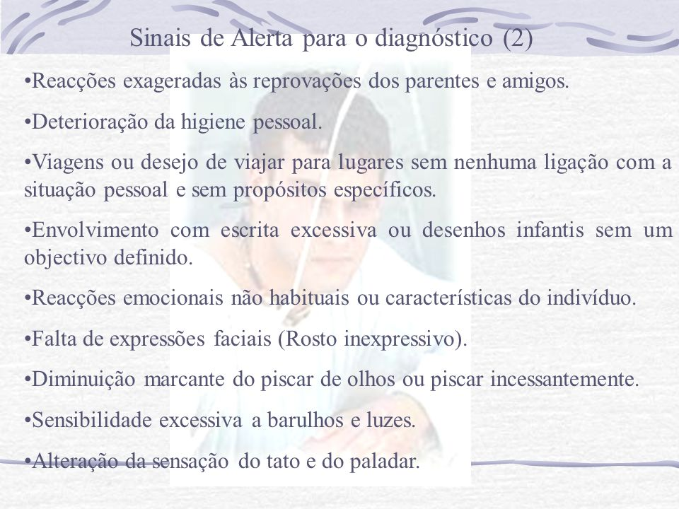 Sinais de Alerta para o diagnóstico (2)
