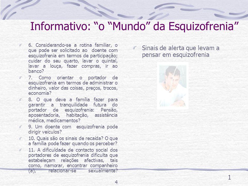 Informativo: o Mundo da Esquizofrenia