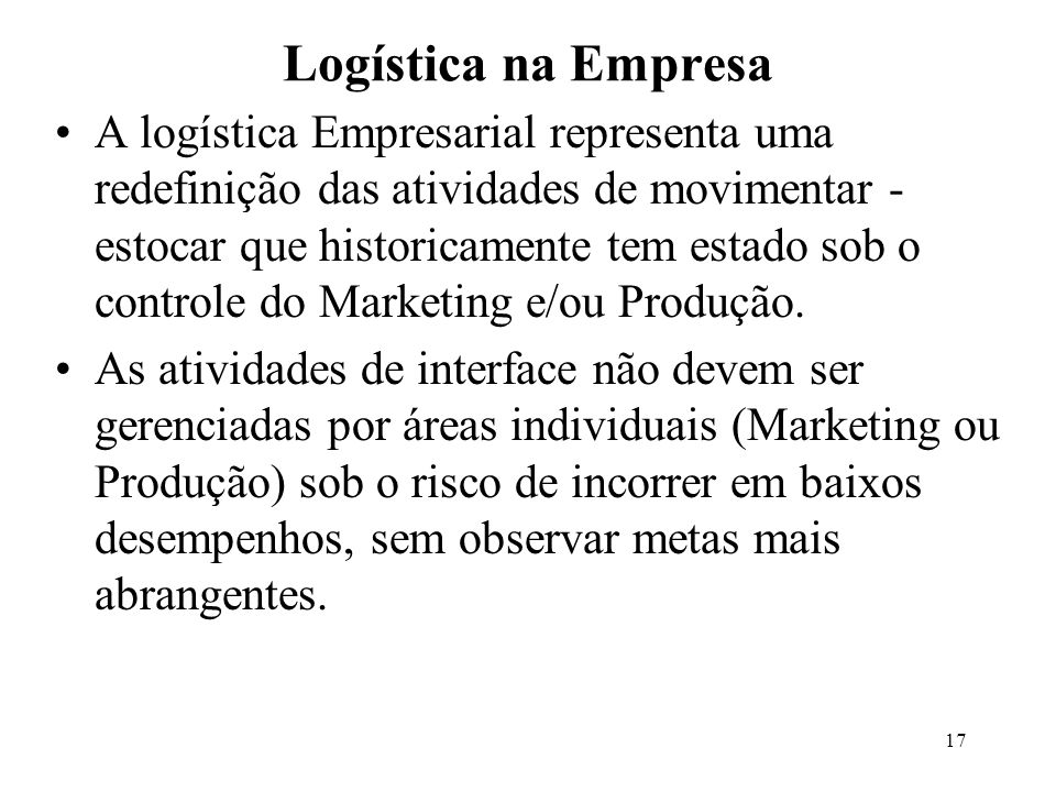 Logística na Empresa