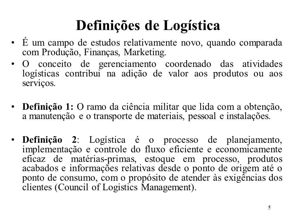 Definições de Logística